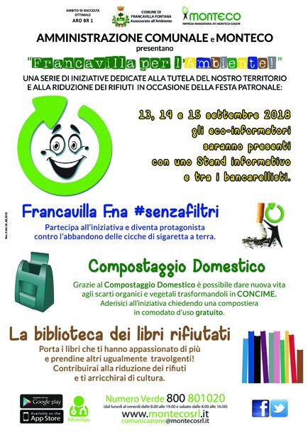 """AMMINISTRAZIONE COMUNALE e MONTECO presentano """"Francavilla per l'Ambiente!"""""""