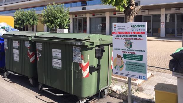 Raccolta porta a porta, il kit Monteco raggiunge anche altre zone della città