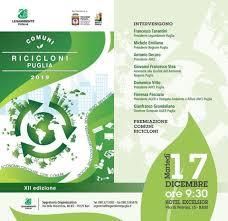 XII ed. di Comuni Ricicloni Puglia 2019